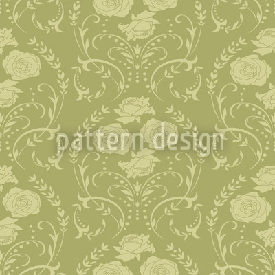 Rose Green Vector Ornament