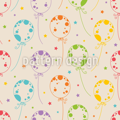 Fröhliche Luftballons Nahtloses Muster