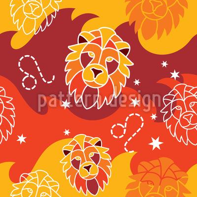 Feurige Löwen Vektor Muster
