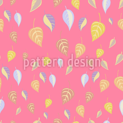 Girlish Leaves Repeating Pattern