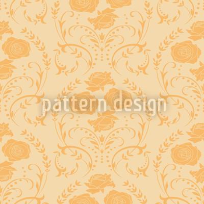 Rose Orange Seamless Pattern