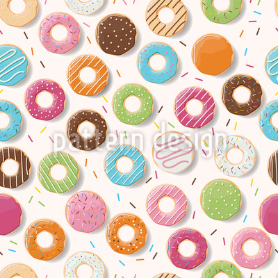 I Like Doughnuts Repeat Pattern