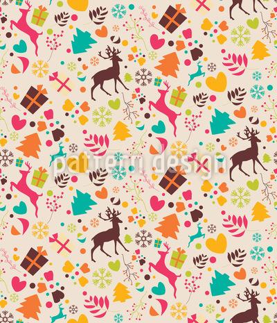 Von Weihnachten Träumen Rapportiertes Design
