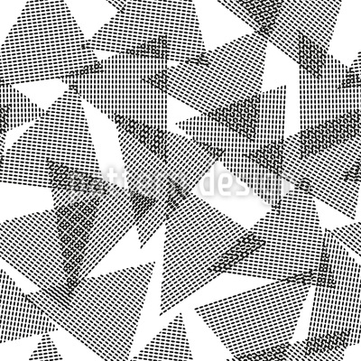 Touching Triangles Vector Pattern
