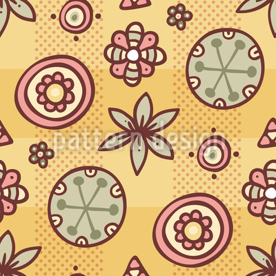 Cute Floral Mix Seamless Pattern
