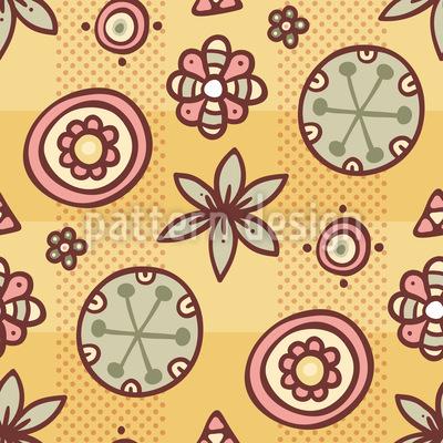 Niedlicher Blumen Mix Nahtloses Muster