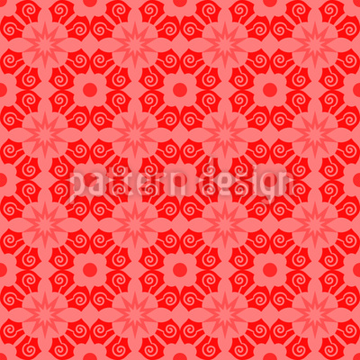 Blumenanbaugebiet Nahtloses Vektor Muster