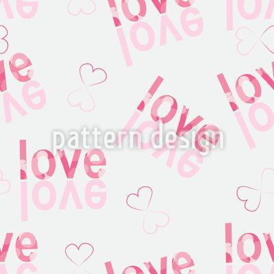 Liebe Am Kopf Rapportiertes Design