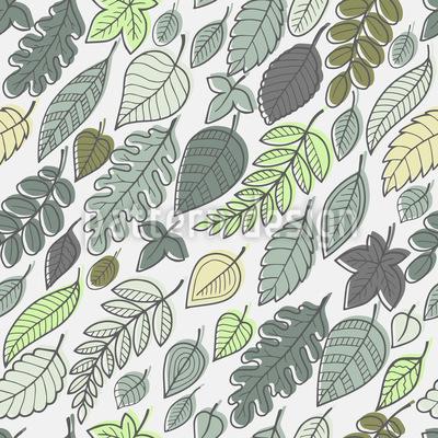 Blätter fliegen im Wind Vektor Ornament