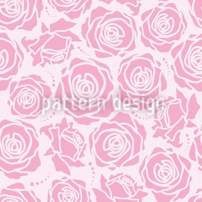 Rosenblüten Lila Nahtloses Vektormuster