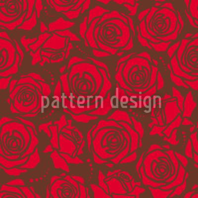 Rosenblüten Rot Muster Design