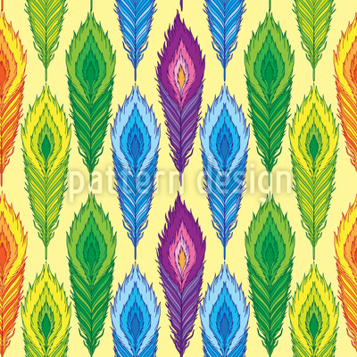 Tropical Feathers Pattern Design