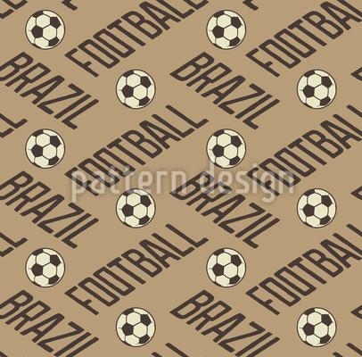 Football In Brazil Vector Ornament