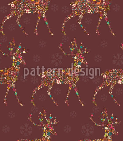 Embellished Reindeer Pattern Design