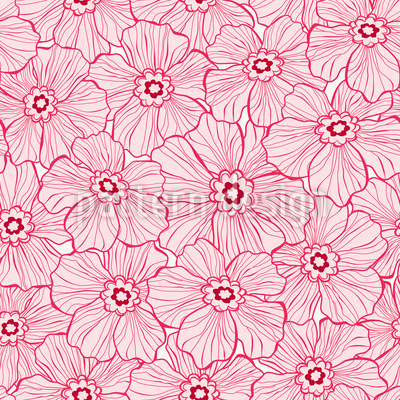 Flowers silhouette Design Pattern