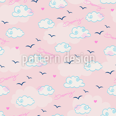 Dreaming About Clouds Seamless Pattern