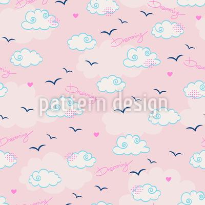 Über Wolken Träumen Nahtloses Muster