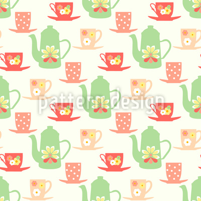 Sweet Sixties Tea Time Rapportiertes Design