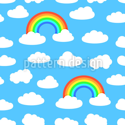Leuchtender Regenbogen Rapportmuster