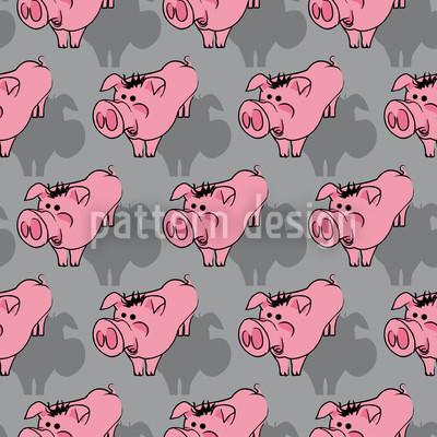 Schweinchen Grau Vektor Muster