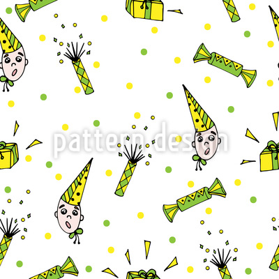 Candy And Cracker Seamless Pattern