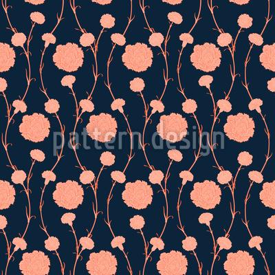 Elegante Gartennelken Vektor Muster