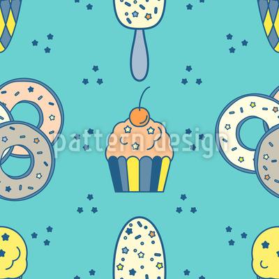 Eis Muffin und Donut Vektor Design