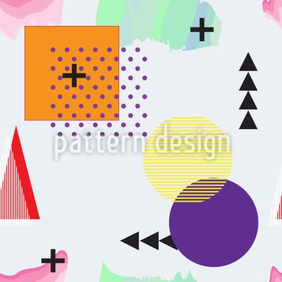 Memphis Geometrie Lektion Rapportiertes Design