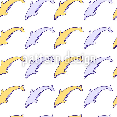 Cute Dolphins Pattern Design