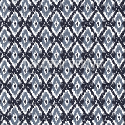 Tribal Ikat Seamless Vector Pattern Design