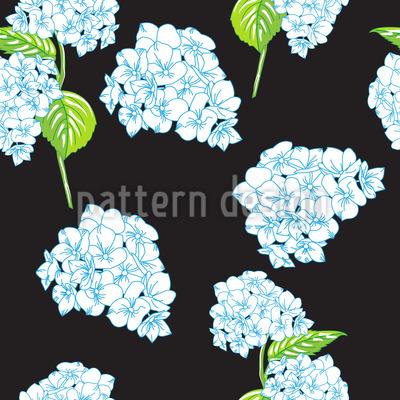 Blühende Hortensien Nahtloses Vektor Muster