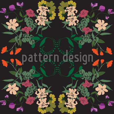 Prächtige Blumen Designmuster