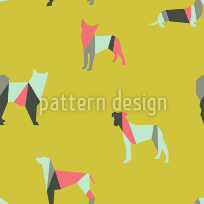 Hip Dogs Vector Ornament