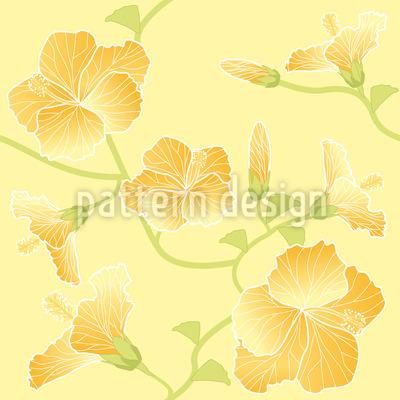 Sunny Hibiscus Pattern Design