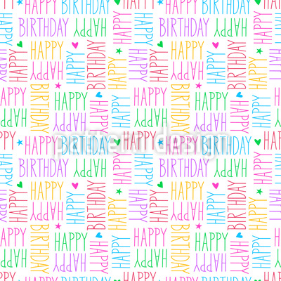 Birthday Wishes Seamless Vector Pattern