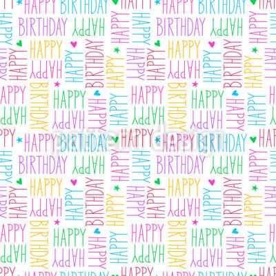Geburtstagswünsche Nahtloses Vektor Muster