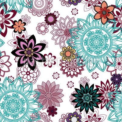 Florale Mandala Variationen Rapport