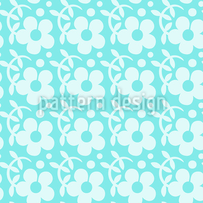 Freshly Flowers Vector Pattern
