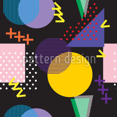 80er und 90er Musterdesign