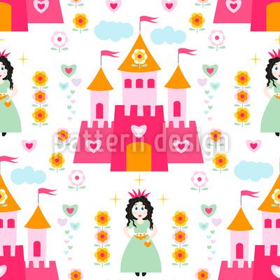 Prinzessin des Schlosses Nahtloses Vektormuster