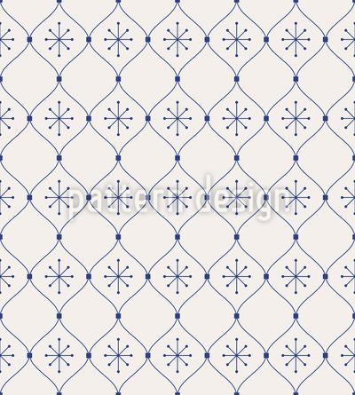 Neve festiva Design de padrão vetorial sem costura