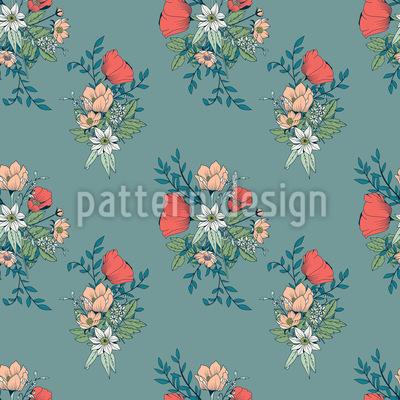 Botanisches Bouquet Nahtloses Muster