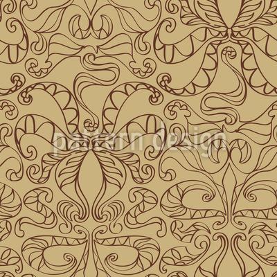 Spiritual Loops Beige Seamless Vector Pattern Design