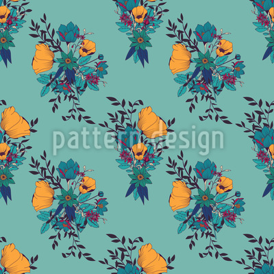 Rampant Flowering Seamless Vector Pattern Design