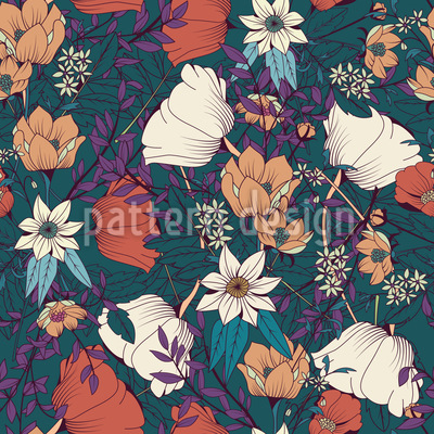 Botanical MIx Vector Ornament