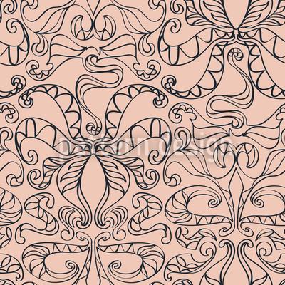 Spiritual Loops Nude Repeat Pattern