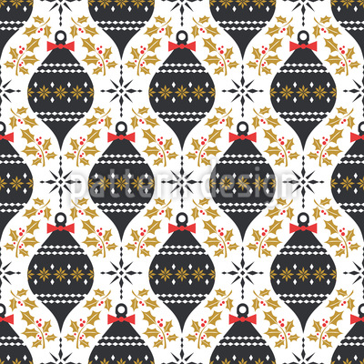 Mistletoes and Baubles Vector Ornament