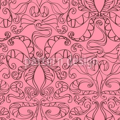 Spirituelle Schlingen Pink Nahtloses Vektormuster