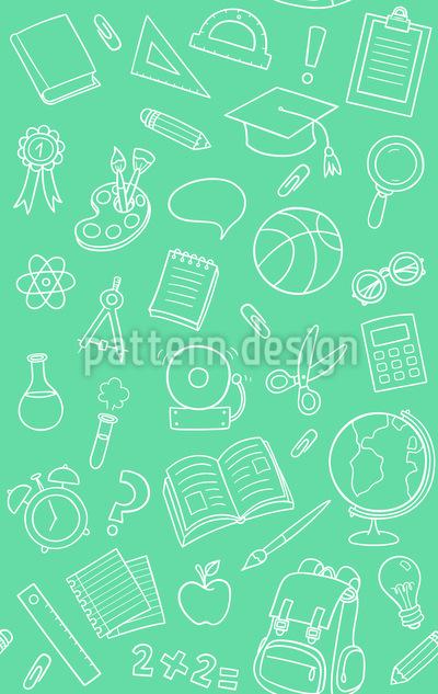 School Objects Seamless Vector Pattern