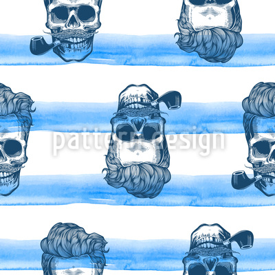 Eternity Skull silhouette in engraving style Vector Design